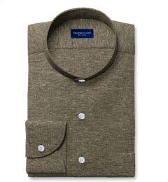 Canclini Sage Slub Knit Custom Dress Shirt