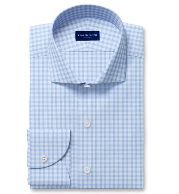 Performance Blue End on End Check Dress Shirt