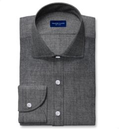 Reda Dark Grey Melange Merino Wool Shirts by Proper Cloth
