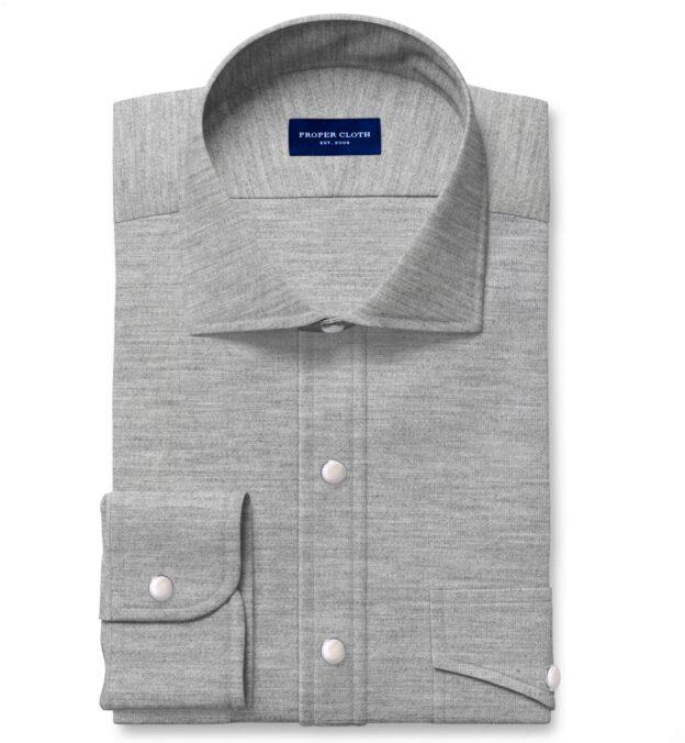 Japanese Grey Melange Pincord Tailor Made Shirt
