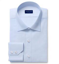 Cooper Light Blue Stretch Twill Tailor Made Shirt