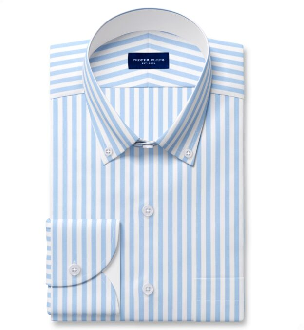 Performance Light Blue Bengal Stripe Tailor Made Shirt