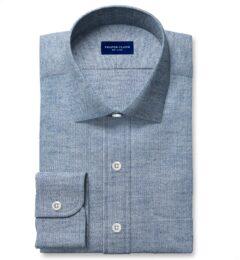 Canclini Light Slate Birdseye Beacon Flannel Custom Dress Shirt