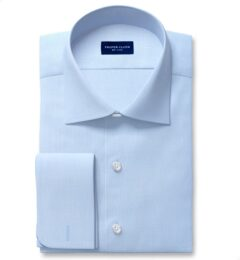 Non-Iron Supima Blue Royal Oxford Fitted Shirt
