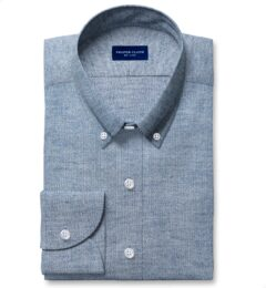 Canclini Light Slate Birdseye Beacon Flannel Dress Shirt