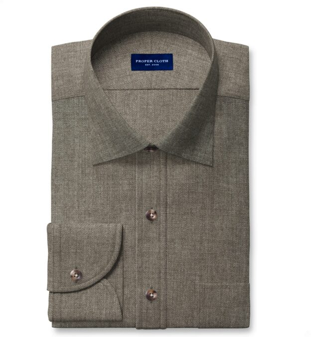 Albini Washed Fatigue Linen Twill Tailor Made Shirt
