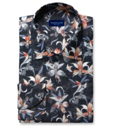 Albiate Multi Color Large Floral Print Men's Dress Shirt