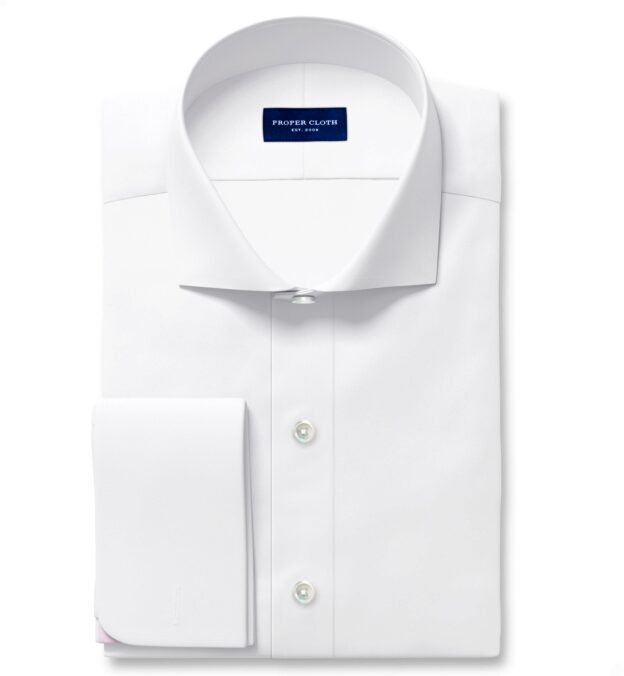 White 120s 3-Ply Tailor Made Shirt