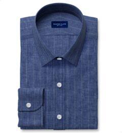 Leomaster Faded Blue Pinstripe Linen Tailor Made Shirt