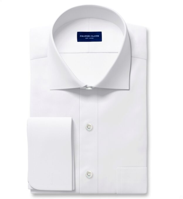 Sutton Wrinkle-Resistant White Imperial Twill Custom Made Shirt