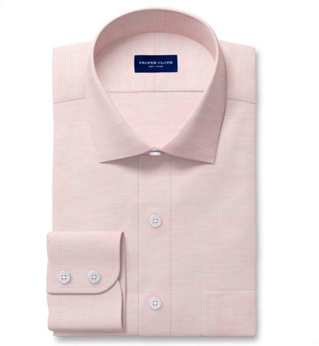 Portuguese Pink Cotton Linen Oxford Tailor Made Shirt