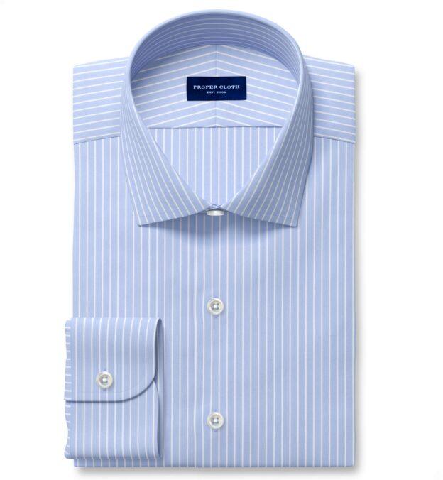 Performance Light Blue Reverse Stripe Dress Shirt