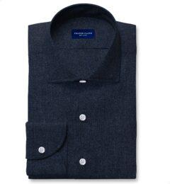 Canclini Dark Slate Large Birdseye Beacon Flannel Fitted Shirt