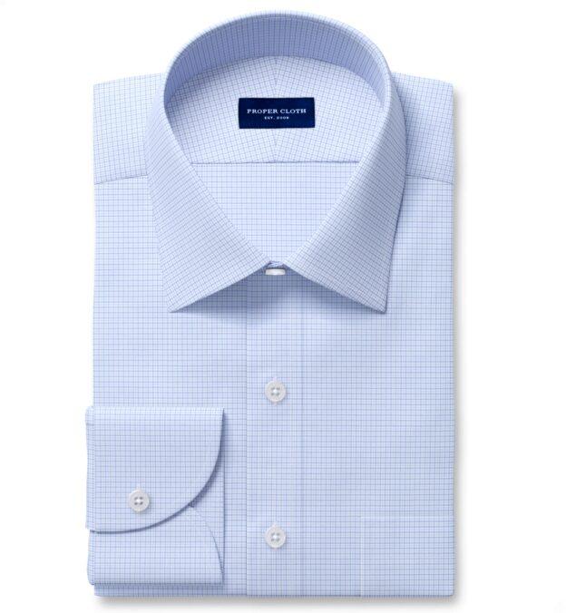 Performance Light Blue and Lavender Micro Check Custom Made Shirt