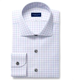 Mayfair Wrinkle-Resistant Lilac and Blue Check Tailor Made Shirt