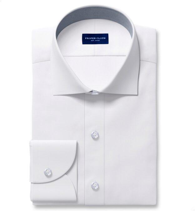 White Diagonal Jacquard Men's Dress Shirt