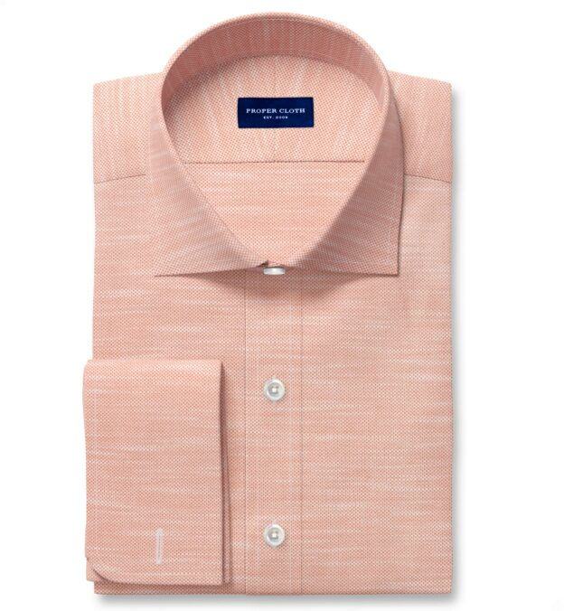 Amalfi Sienna Melange Pique Men's Dress Shirt