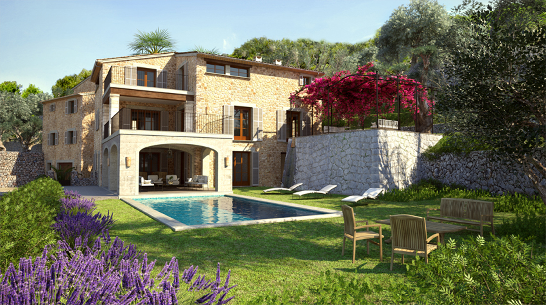 Imágenes de la propiedad inmobiliaria de Exclusiva villa en la costa de Deià....