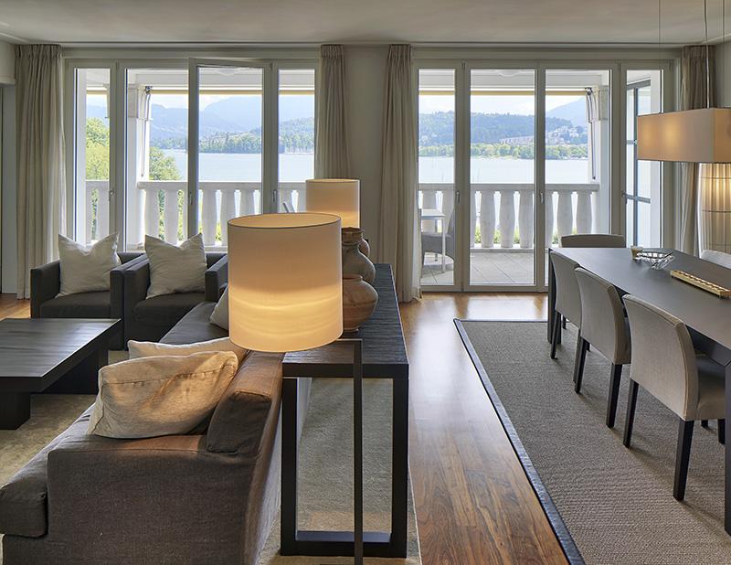 Miete: Luxus-Apartment mit perfekter Seesicht in Gehdistanz zur Altstadt