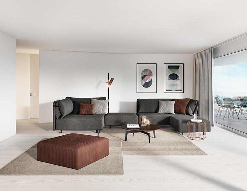 Miete: Neubau – Wohnung mit idyllischer Aussicht