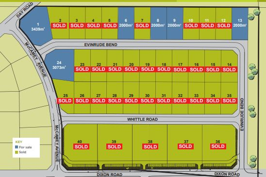 Light Industrial Freehold lots ranging from 2,000sqm – 4,000sqm