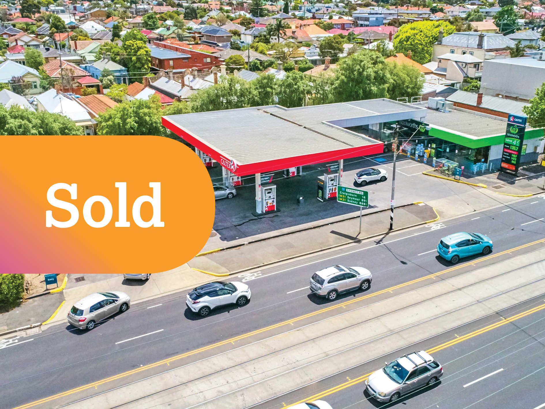 Blue-Chip Woolworths Petrol Freehold Investment with a Big Future