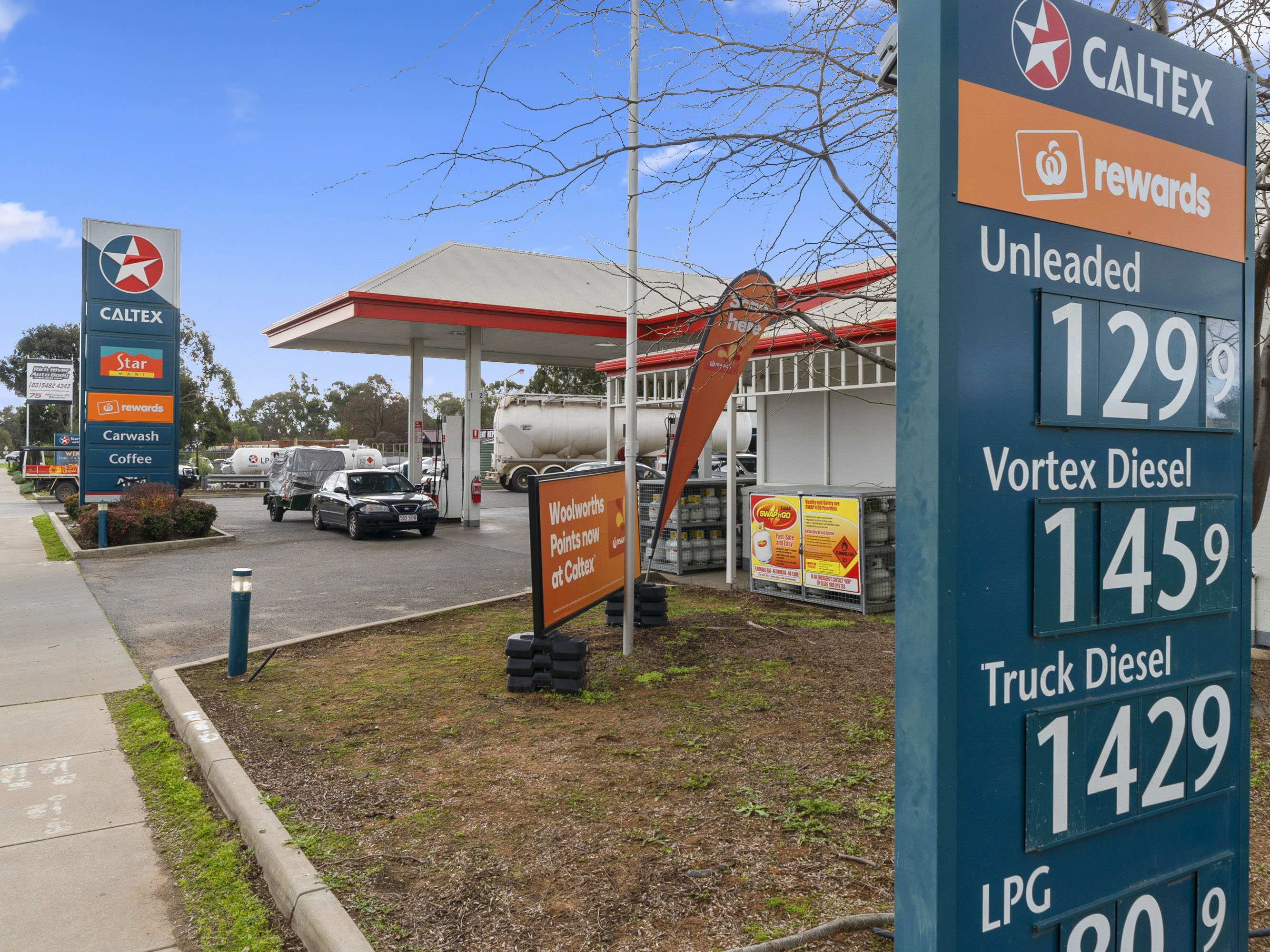 Secure Net Lease Direct To Caltex – Town Entry Position