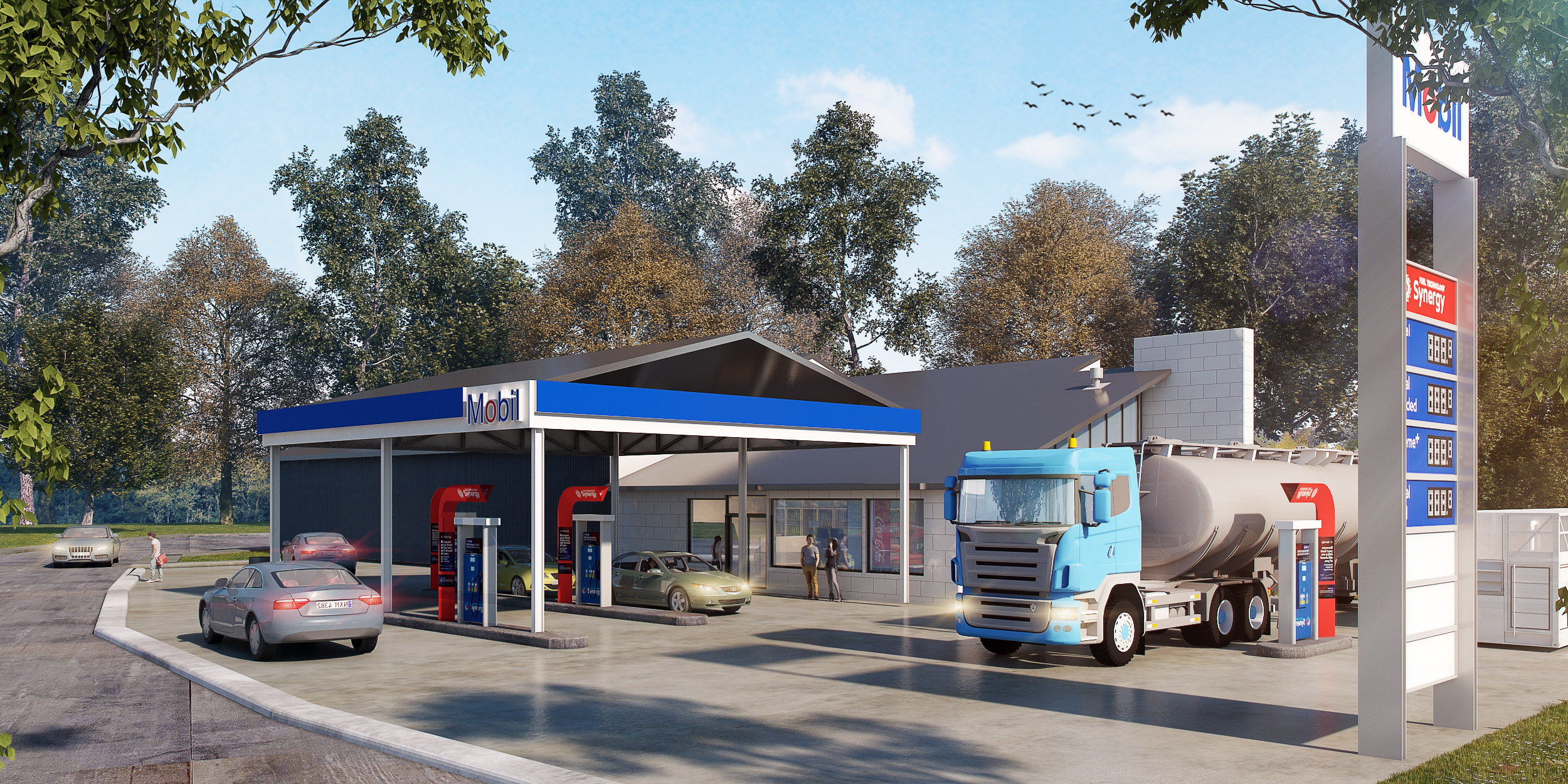 Fully Refurbished Service Station & Truckstop Investment