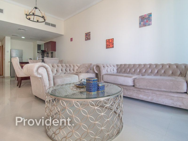 Furnished 2 BR + Study  Partial Sea & Marina View