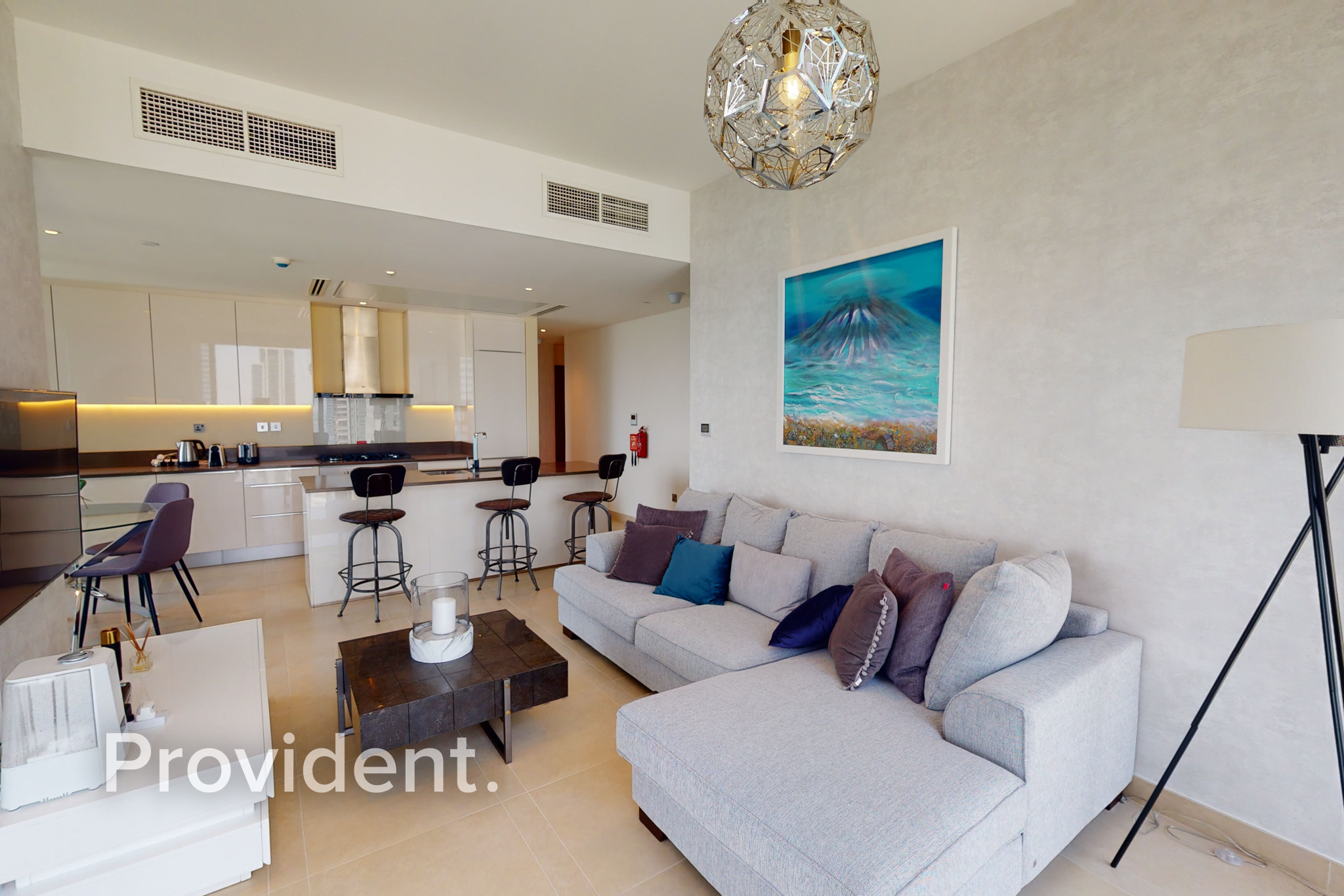 2BR Corner Unit Furnished Marina View Move in Oct.