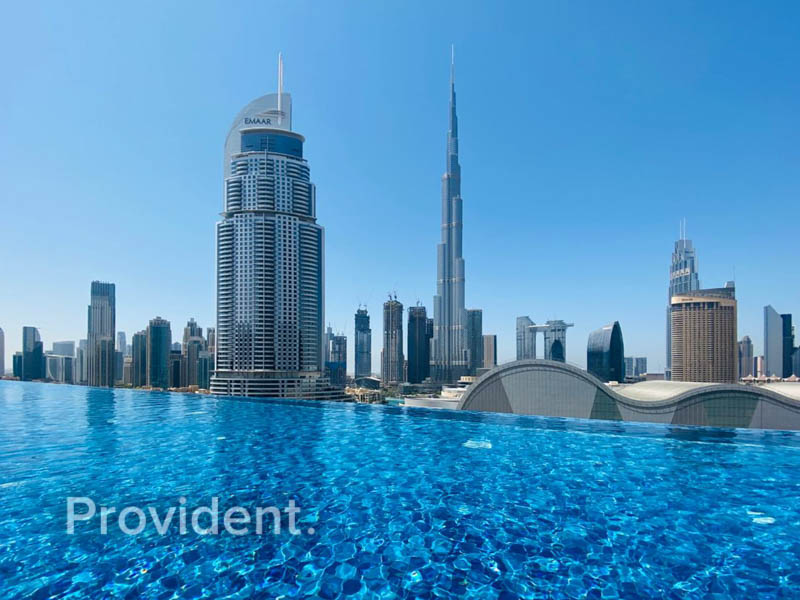 Furnished with Alluring Burj Khalifa View