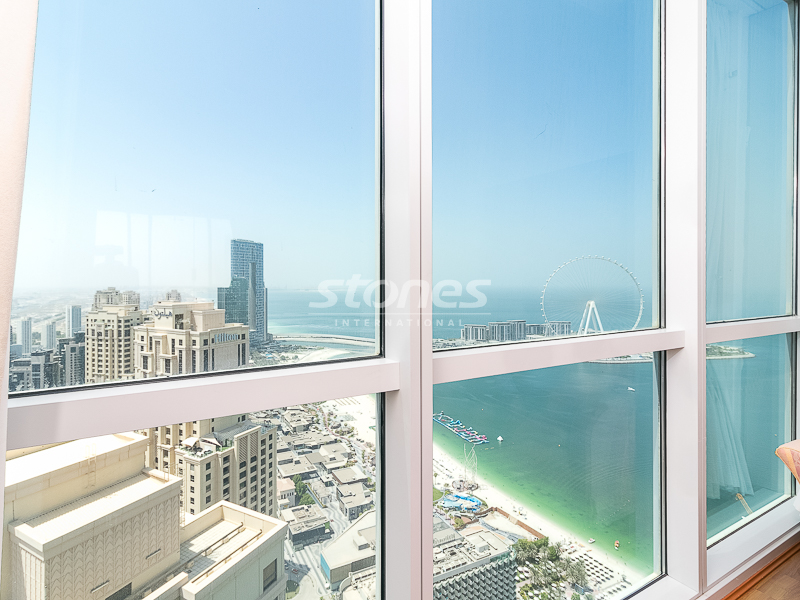Spacious Converted 2BR on High Floor with Sea View