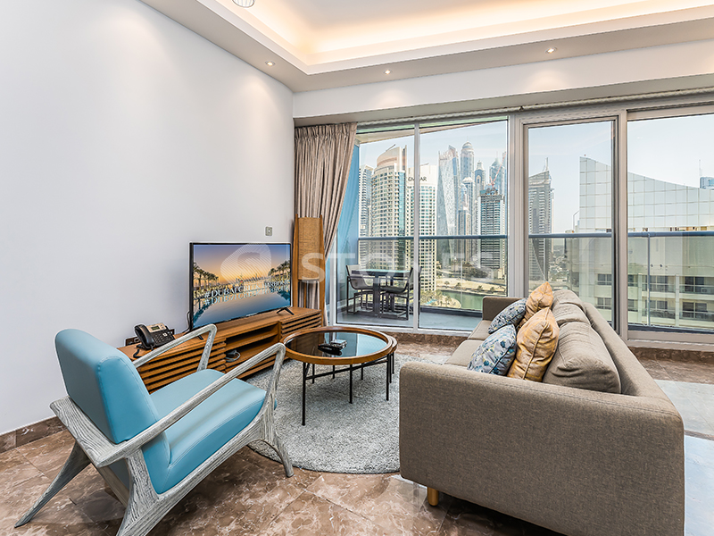 Serviced Furnished Apartment With Full Marina View