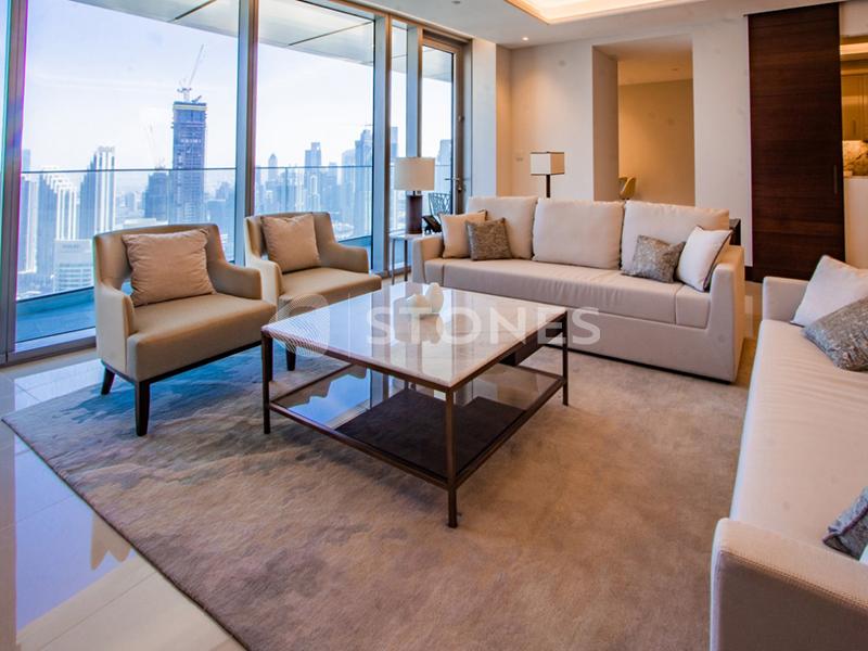High Floor | Full Burj Khalifa View & Sea View