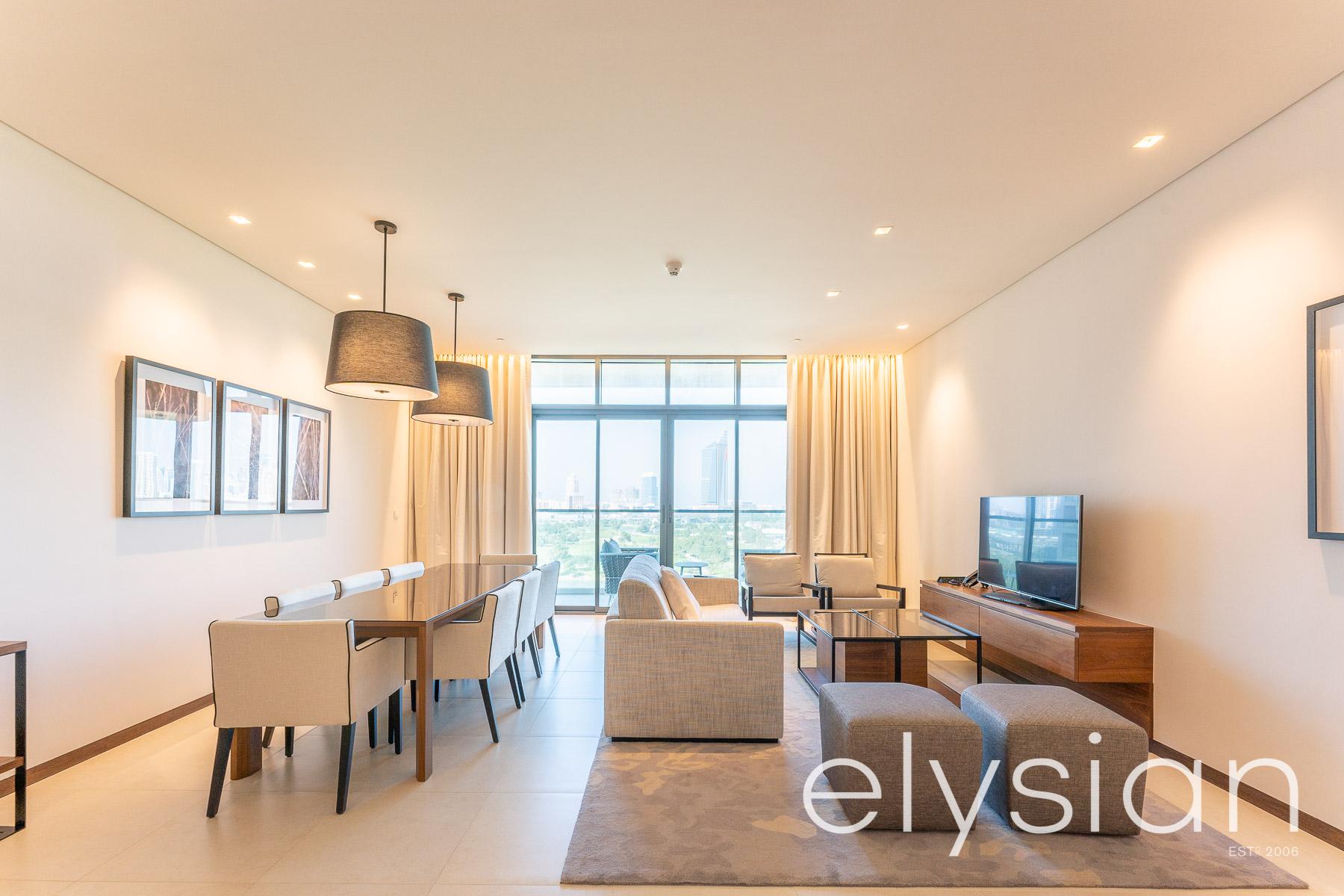 Best Property Furnished 2BR II Elegant Golf Course living