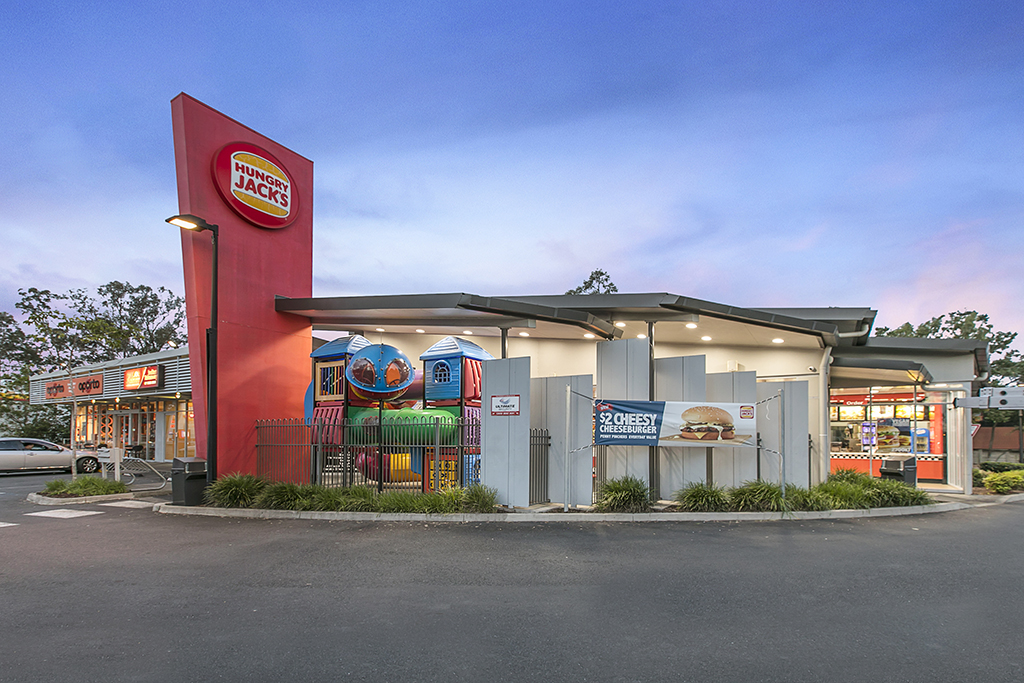Trophy Retail Investment – Landmark Corner Anchored by Hungry Jack's & Oporto