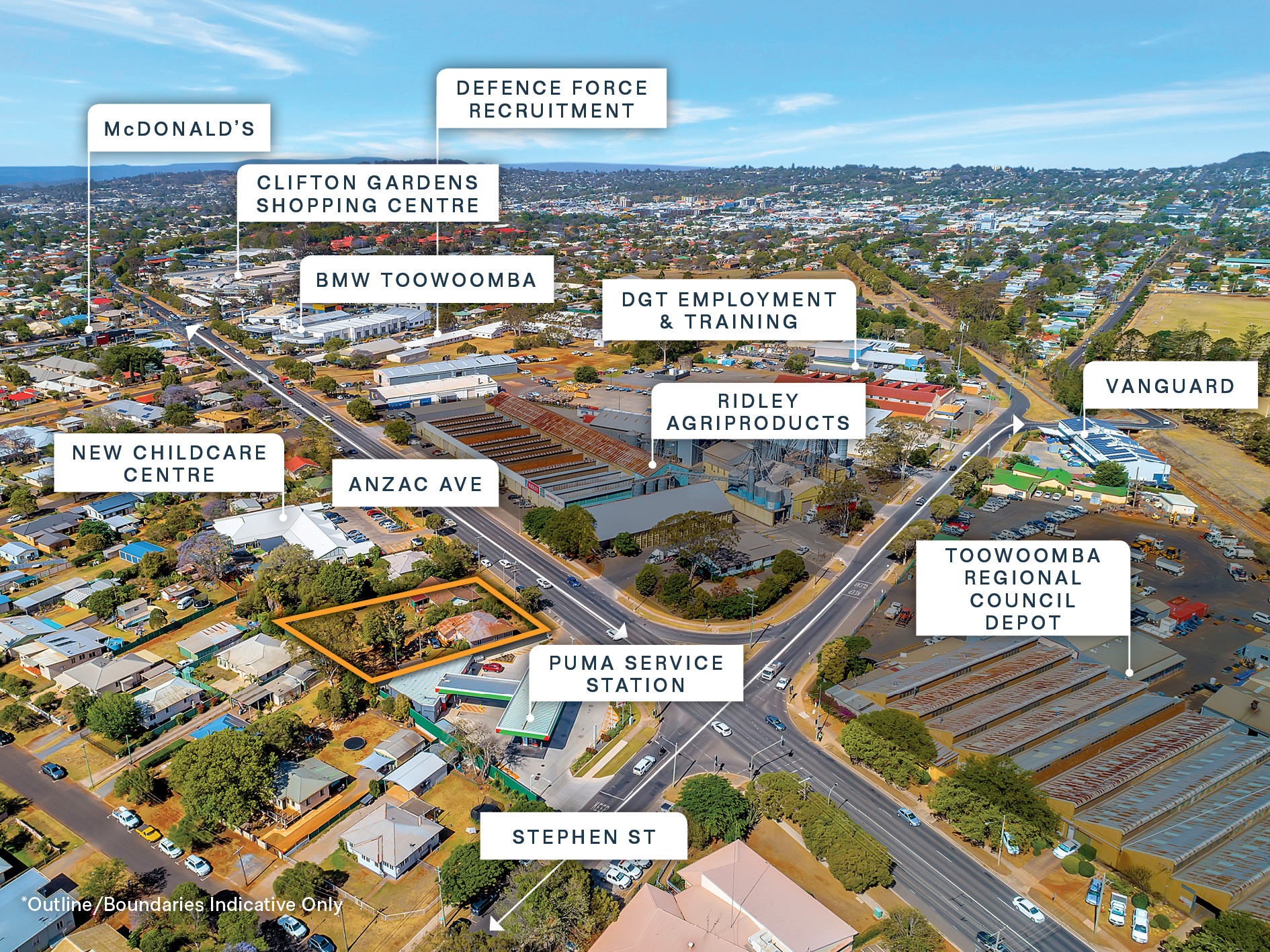 Development Approved Land – Adjacent to Puma Service Station