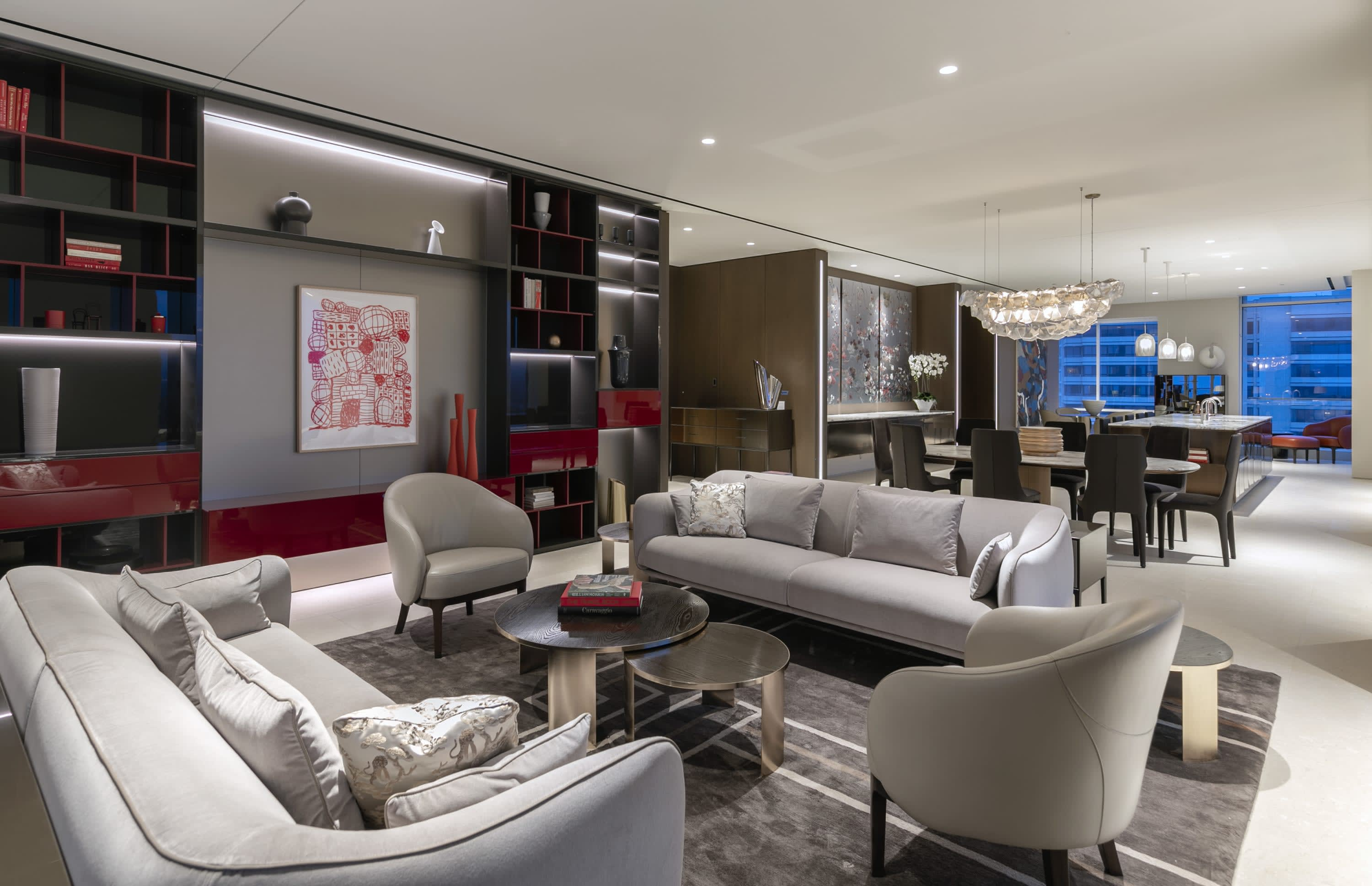 living room in penthouse 19 at beverly west in los angeles