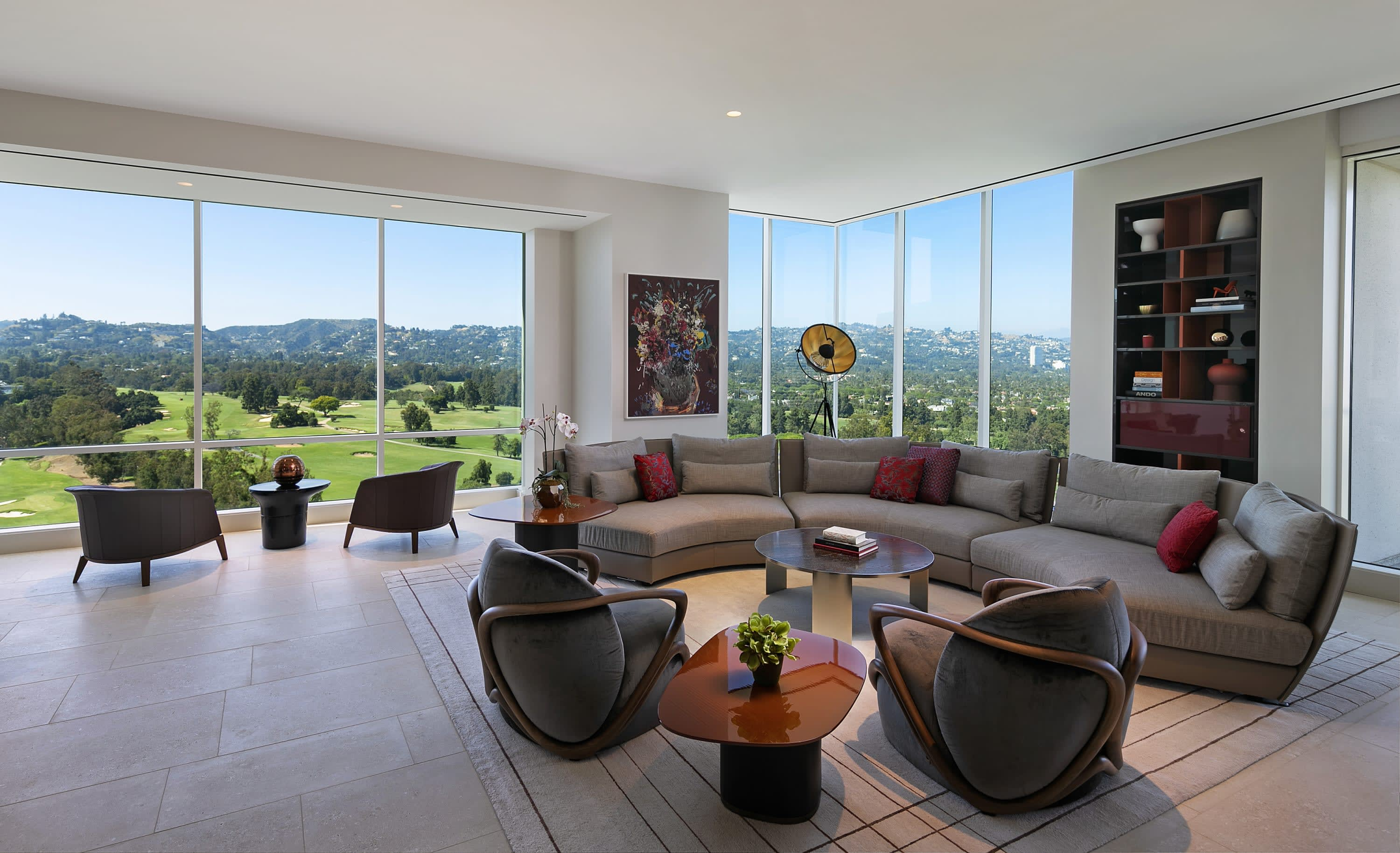 living room in Penthouse 19 at Beverly West
