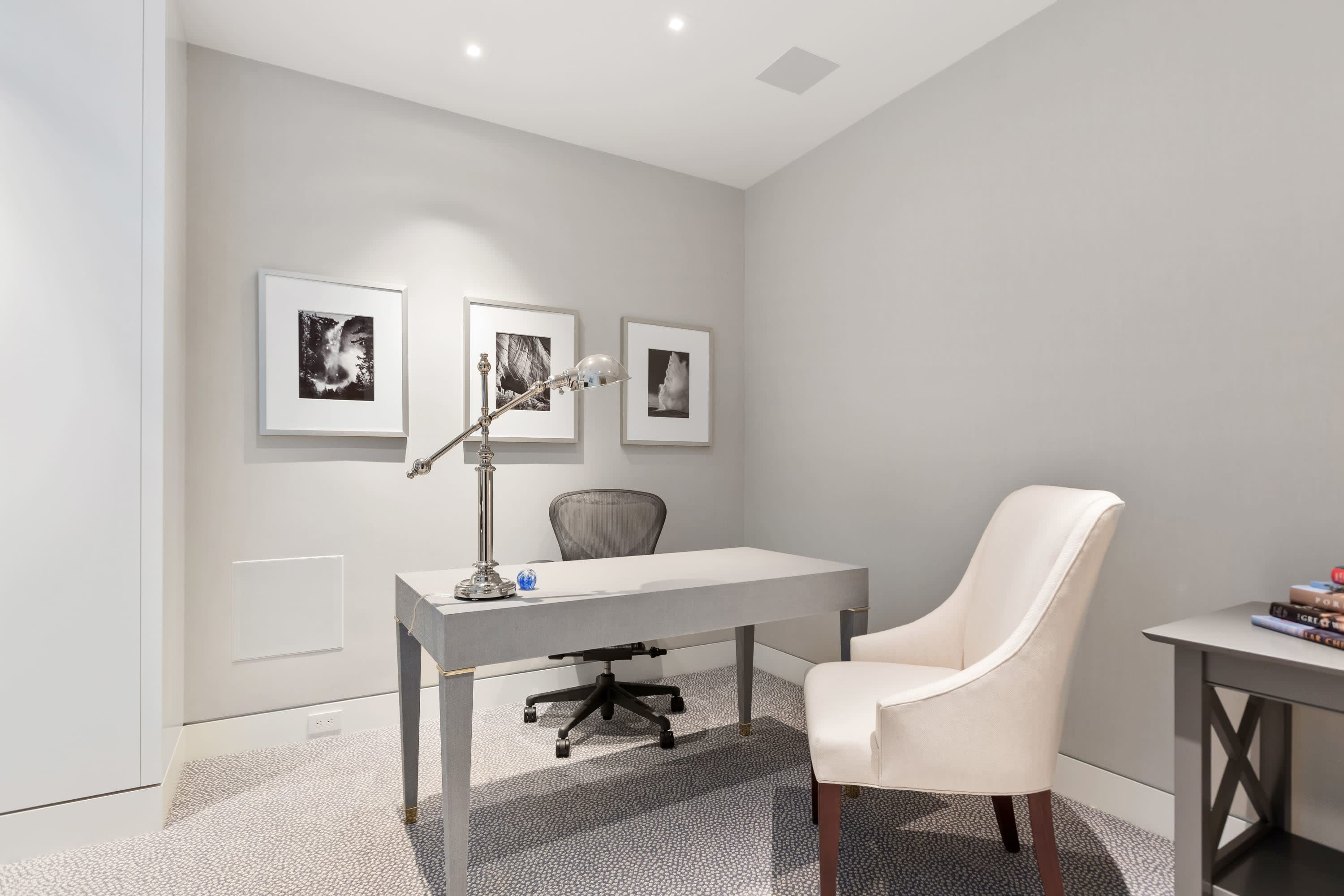 a contemporary home office inside 9255 doheny road in west hollywood