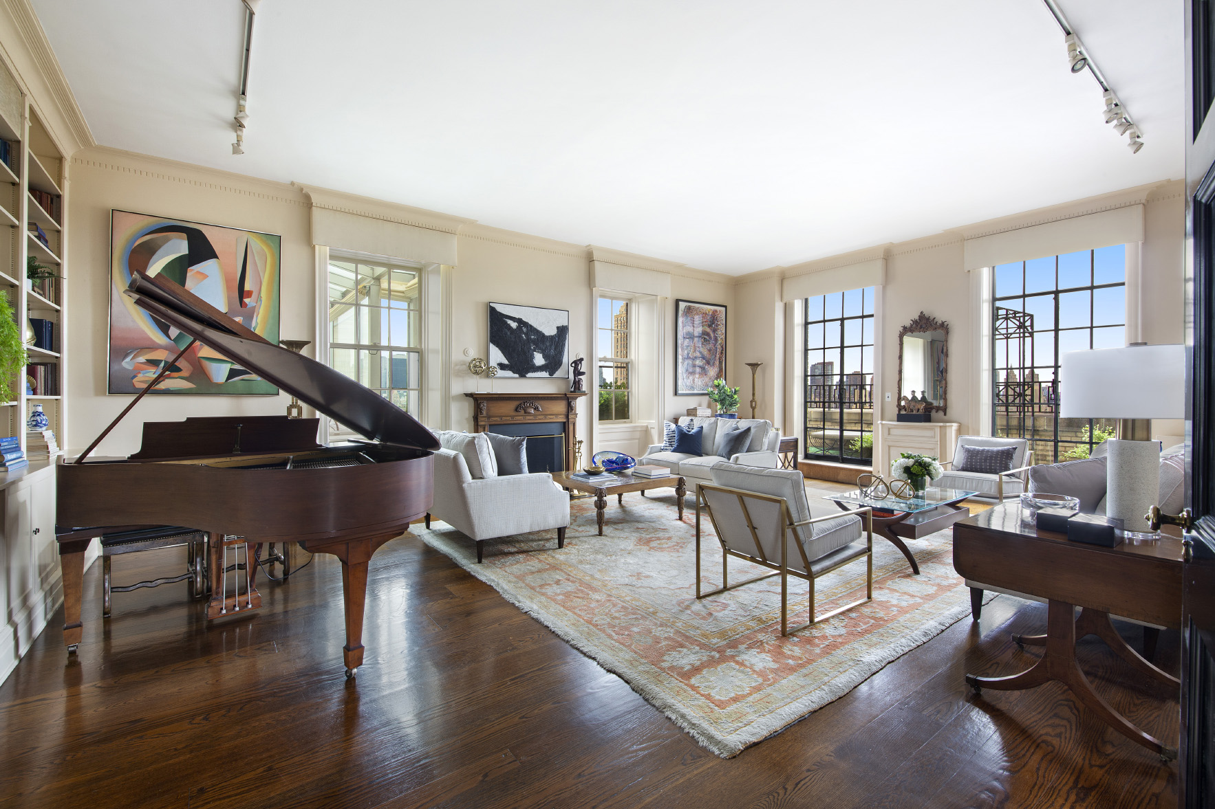 living room at 895 park avenue pha in new york city
