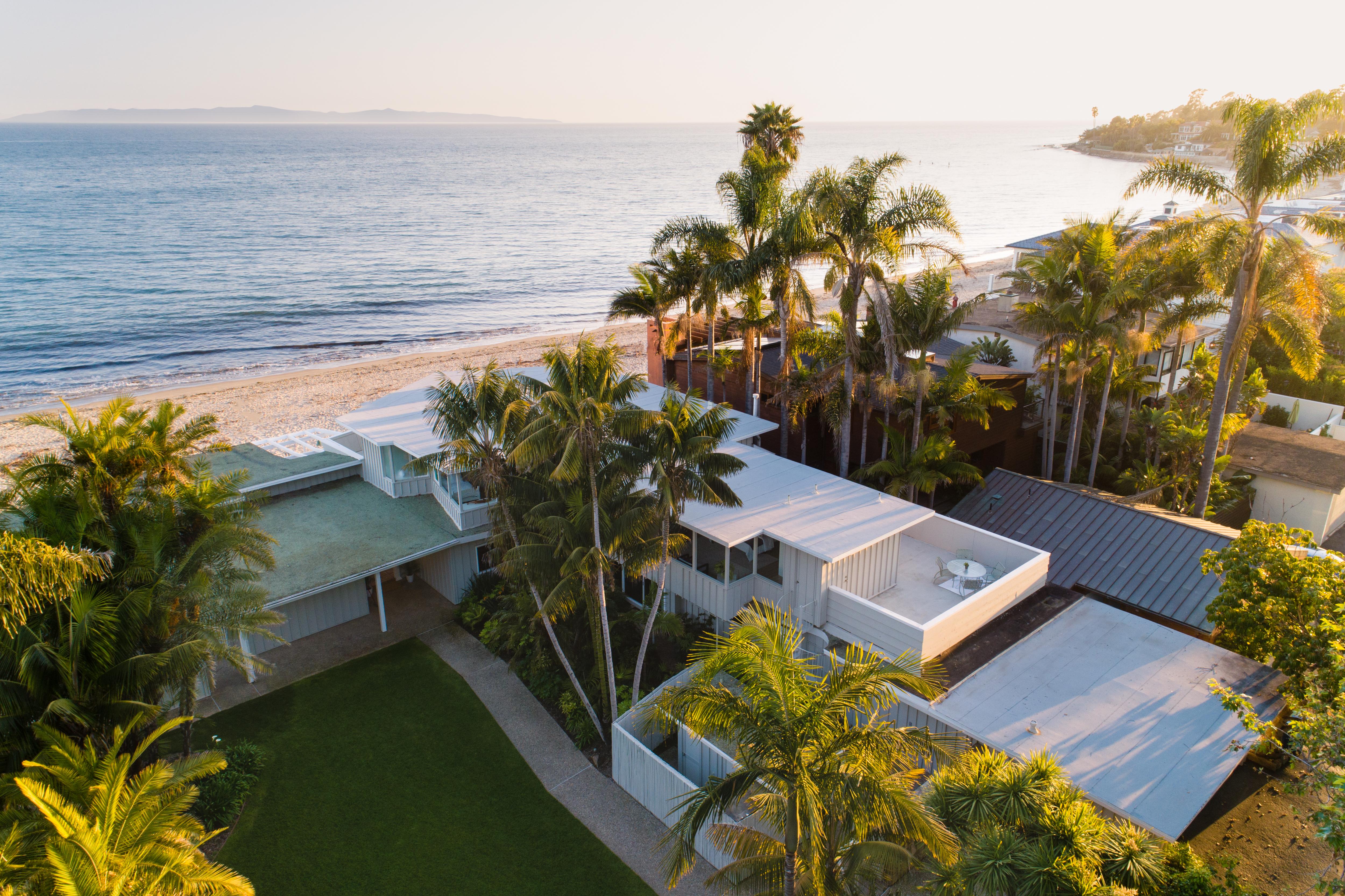 aerial photo luxury montecito house 1583 jameson