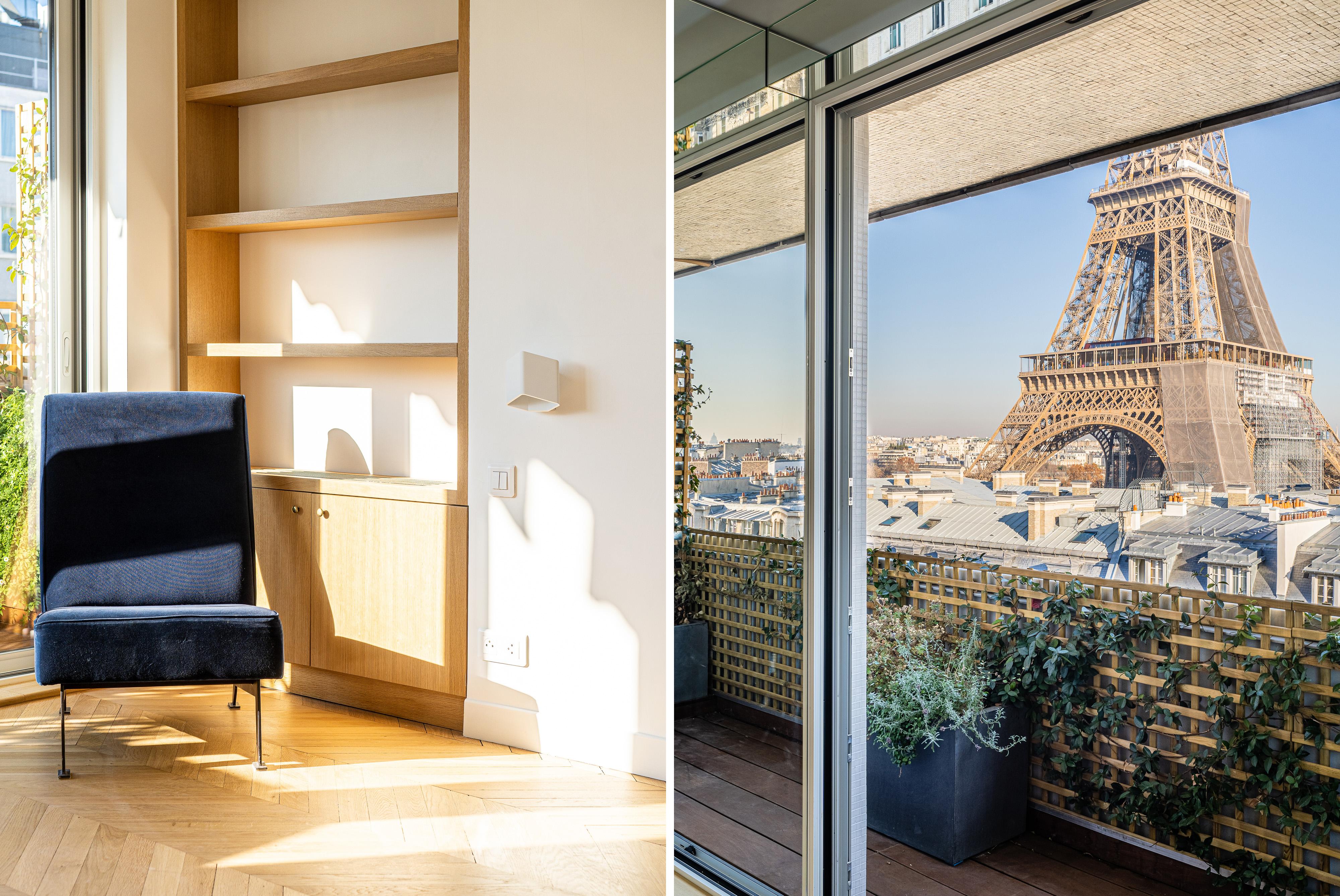 inside updated paris apartment