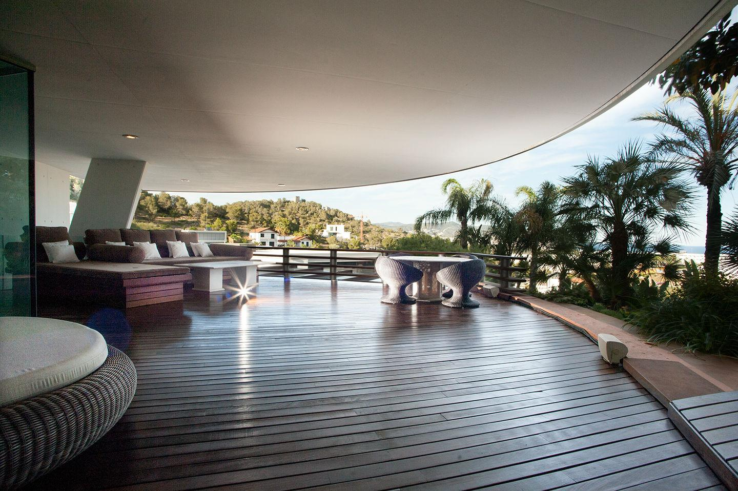covered patio at luxury home in sitges barcelona spain