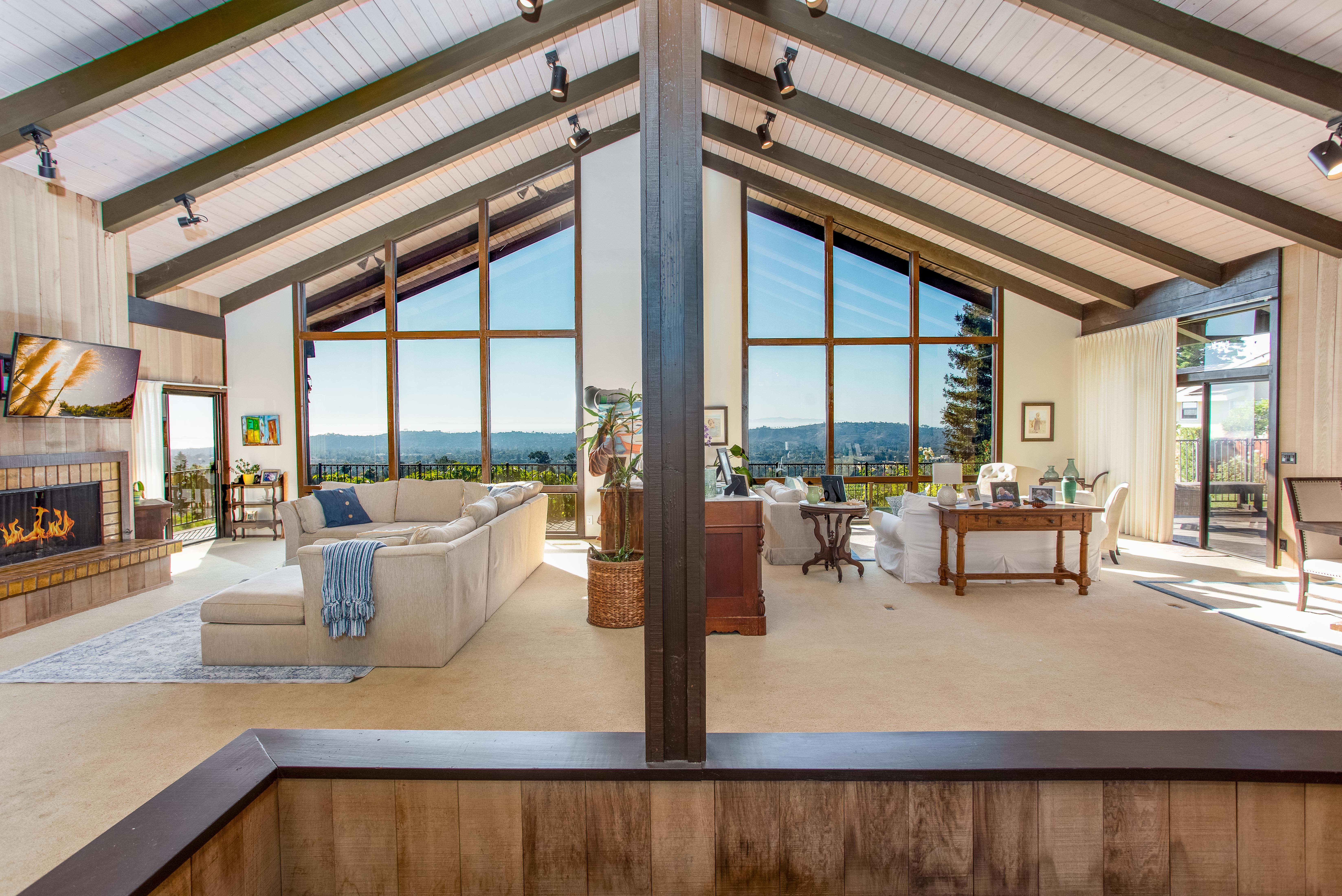 living room inside 25 Santa Teresita Way in santa barbara
