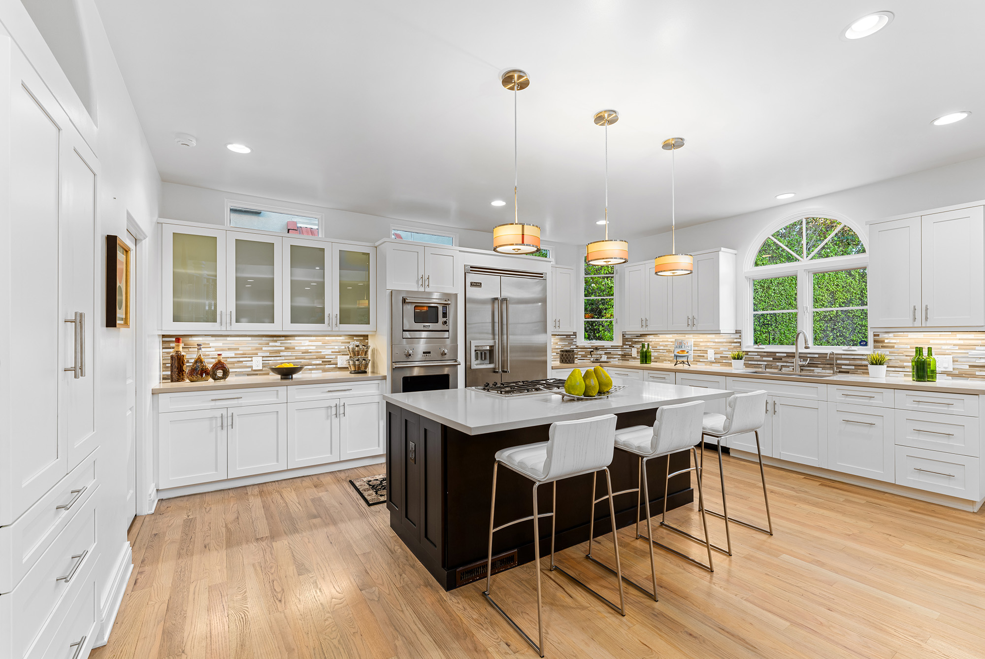 cabinets in a luxury kitchen santa monica house 333 22nd St