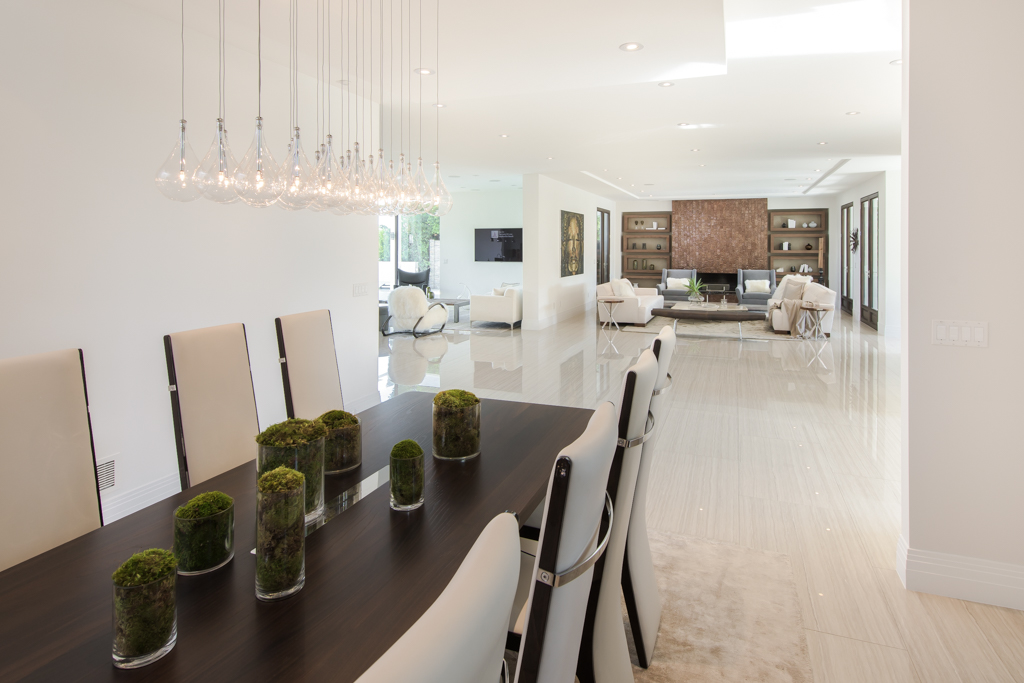 wide plank white floors inside a luxury home in beverly hills