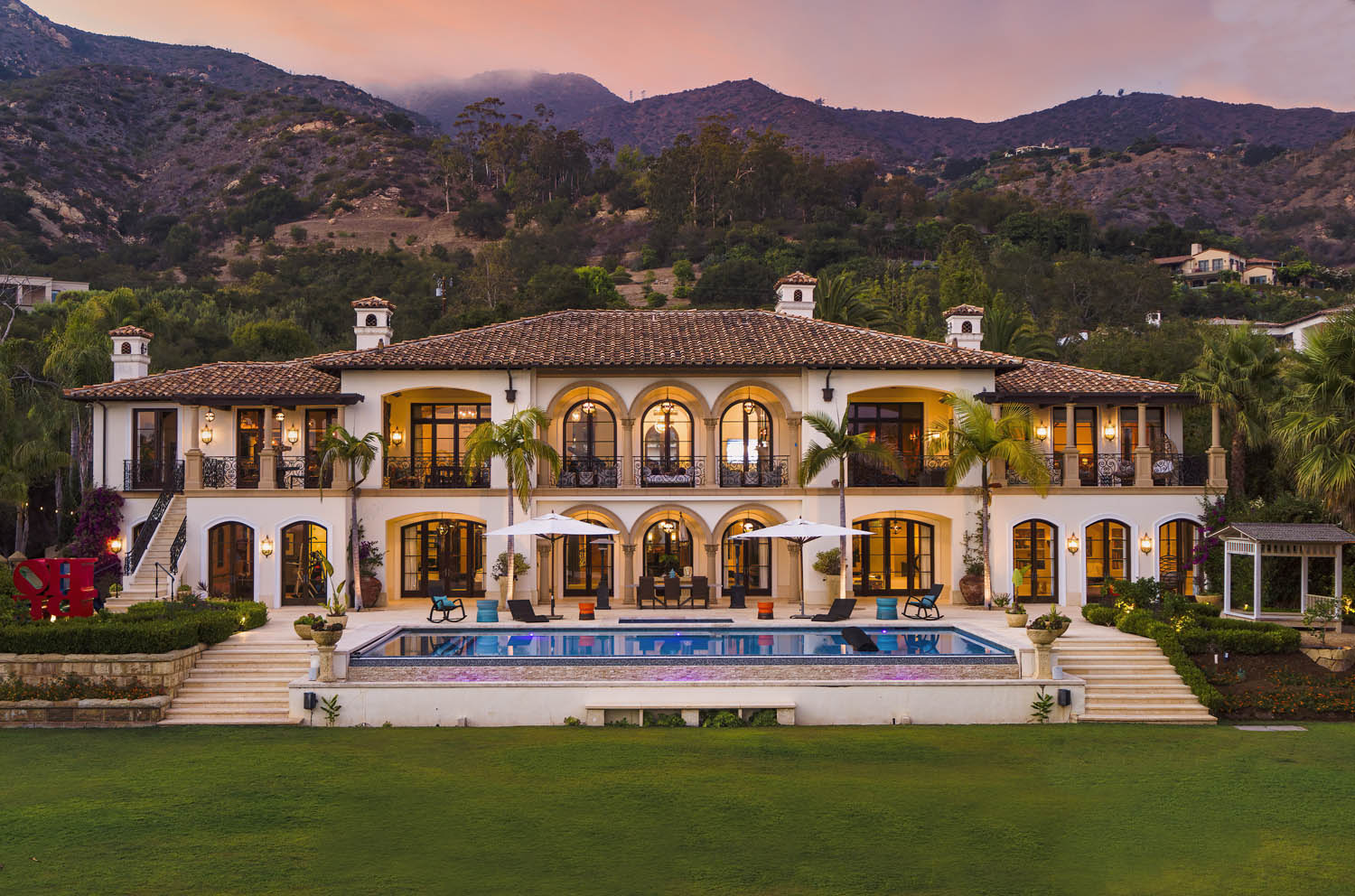 ultimate montecito sanctuary with a swimming pool at 888 lilac drive