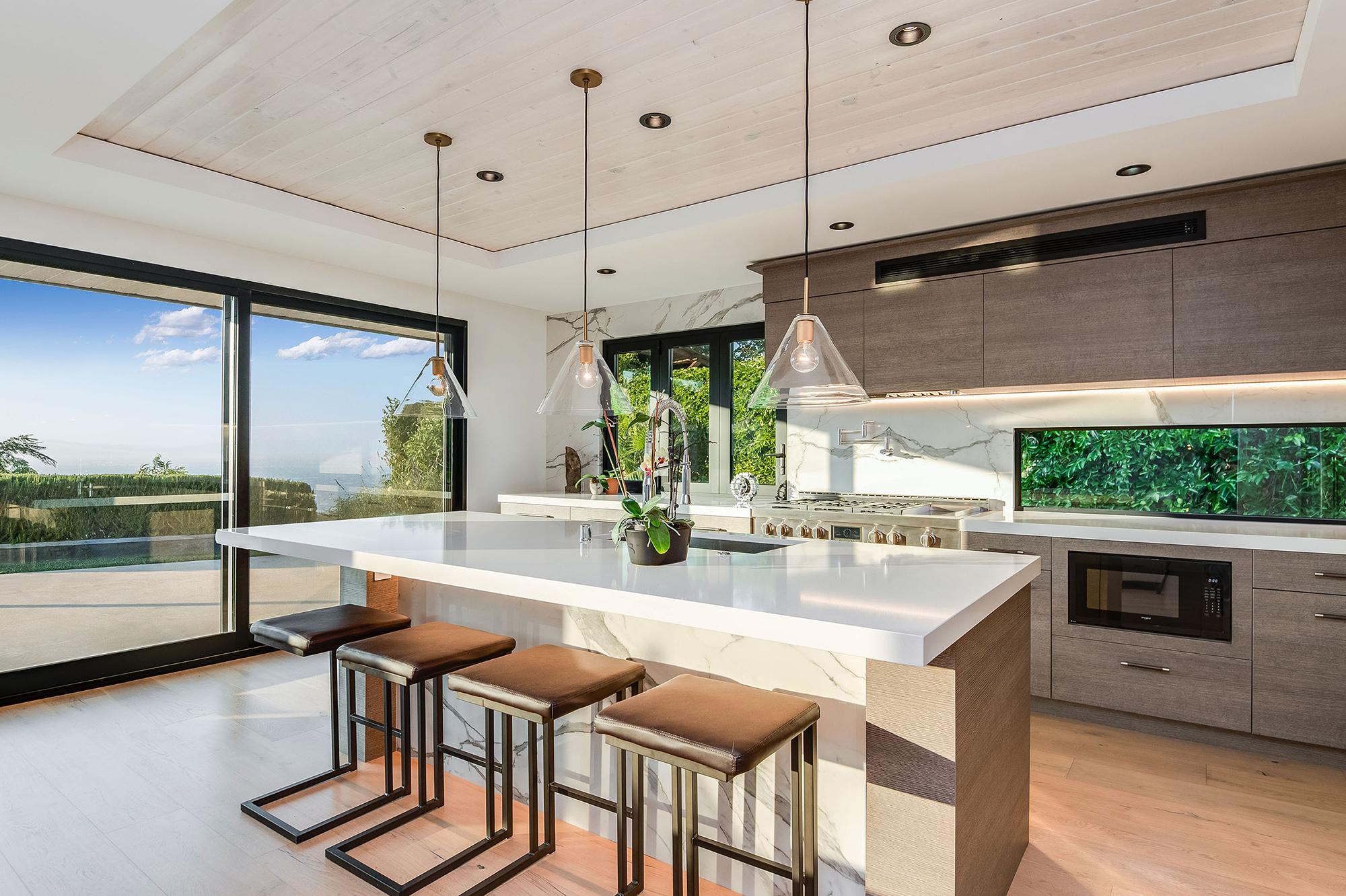 modern chef's kitchen with hidden appliances in los angeles