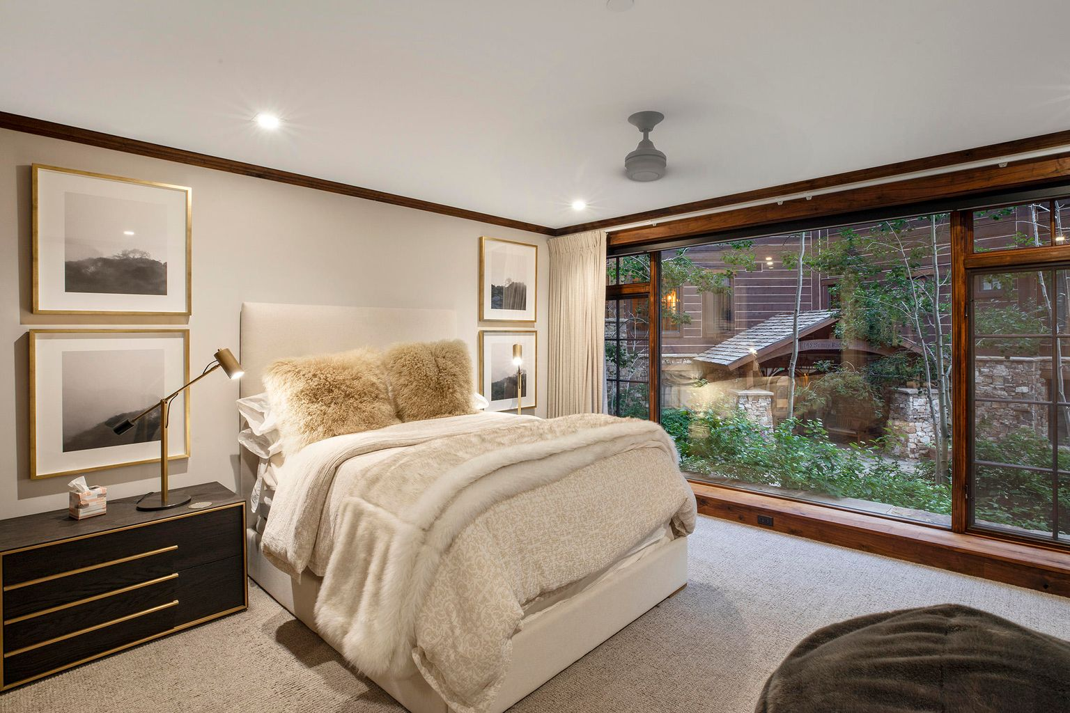 bedroom in a modern vail residence listed for sale at 117 sunny ridge place